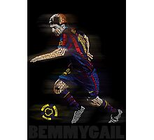 Lionel Messi FIFA Football Soccer Poster Typography Art Photographic Print