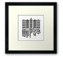 Building fronts of elsewhere  Framed Print