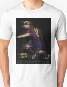 Lionel Messi FIFA Football Soccer Poster Typography Art Unisex T-Shirt