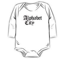 Alphabet City NYC Gothic (Black Print) One Piece - Long Sleeve