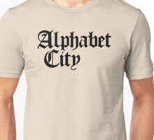 Alphabet City NYC Gothic (Black Print) Unisex T-Shirt
