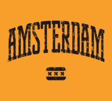 Amsterdam (Black Print) by smashtransit