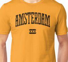 Amsterdam (Black Print) Unisex T-Shirt
