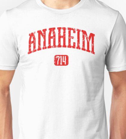 Anaheim 714 (Red Print) Unisex T-Shirt