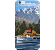 Queenstown, Remarkables and Earnslaw, NZ iPhone Case/Skin