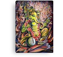 Ganesha - Playing Tanpura Canvas Print