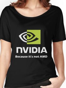 NVIDIA, because it's not AMD White Women's Relaxed Fit T-Shirt