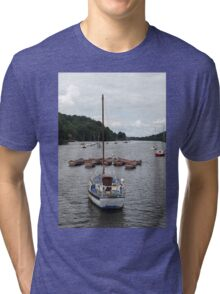 Boats on Rudyard Lake Tri-blend T-Shirt