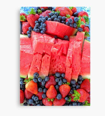 Summer fruit Canvas Print