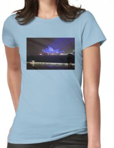 Blue Glow Womens Fitted T-Shirt