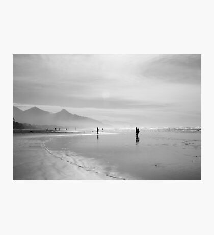 A Silver Day on the Beach Photographic Print