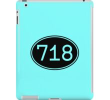 Area Code 718 (Black Print) iPad Case/Skin