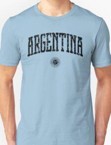 Argentina (Black Print) Unisex T-Shirt