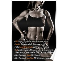 Women's Fitness Advice Poster