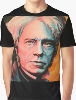 """Magnetic Moment"" Portrait of Michael Faraday Graphic T-Shirt"