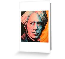 """""""Magnetic Moment"""" Portrait of Michael Faraday Greeting Card"""