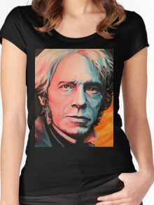 """""""Magnetic Moment"""" Portrait of Michael Faraday Women's Fitted Scoop T-Shirt"""