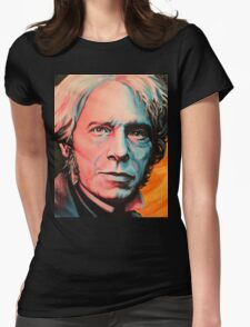 """Magnetic Moment"" Portrait of Michael Faraday Womens Fitted T-Shirt"