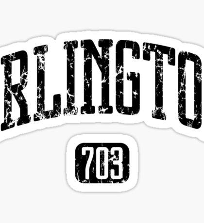 Arlington 703 (Black Print) Sticker