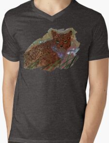 Spotted Cat Mens V-Neck T-Shirt
