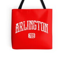 Arlington 703 (White Print) Tote Bag