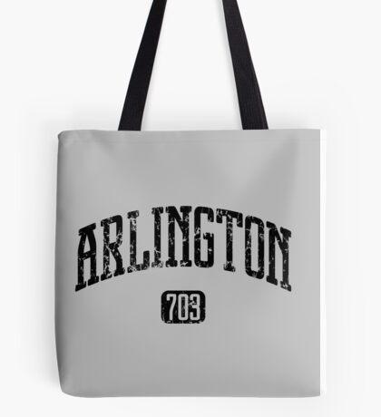 Arlington 703 (Black Print) Tote Bag