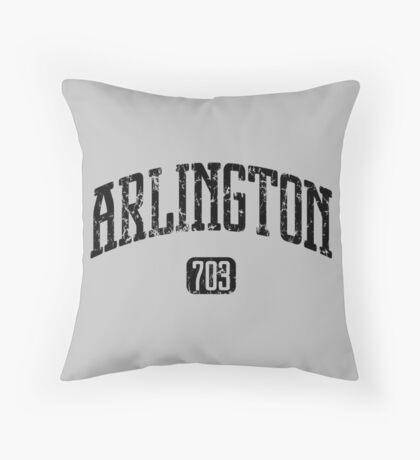 Arlington 703 (Black Print) Throw Pillow