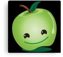 Cute green apple Canvas Print