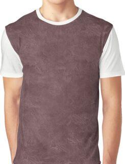 Deep Mahogany Oil Pastel Color Accent Graphic T-Shirt