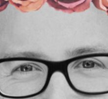 Tyler Oakley Flower Crown Sticker