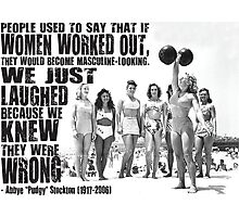 Women Lifting Weights Photographic Print