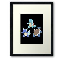Kanto Starters - The Squirtle Evolutions Framed Print