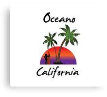 Oceano California Canvas Print