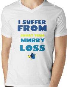 MMRY LOSS Mens V-Neck T-Shirt