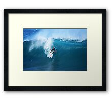 Kelly Slater Takeoff Pipeline Masters Framed Print