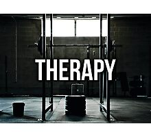 Lifting Is My Therapy Photographic Print