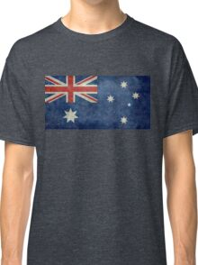 The National flag of Australia, retro textured version (authentic scale 1:2) Classic T-Shirt