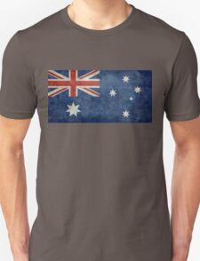 The National flag of Australia, retro textured version (authentic scale 1:2) Unisex T-Shirt