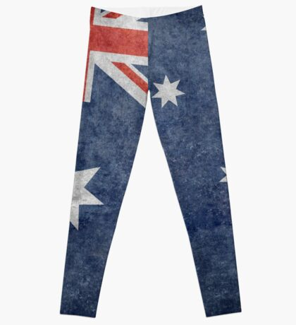 The National flag of Australia, retro textured version (authentic scale 1:2) Leggings