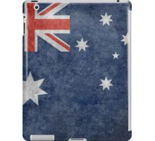 The National flag of Australia, retro textured version (authentic scale 1:2) iPad Case/Skin