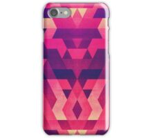 Abstract Symertric geometric triangle texture pattern design in diabolic magnet future red iPhone Case/Skin