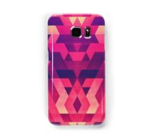 Abstract Symertric geometric triangle texture pattern design in diabolic magnet future red Samsung Galaxy Case/Skin