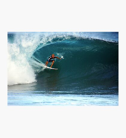 Kelly Slater at Pipeline Masters Photographic Print
