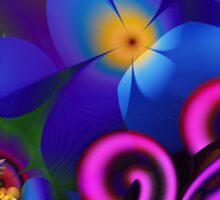 Blue Rainbow Garden Sticker