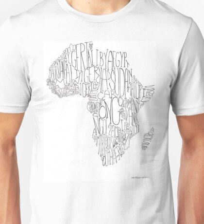 Africa Word Art Unisex T-Shirt