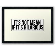 comedy Framed Print