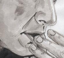 Portrait of Jeff Goldblum Sticker