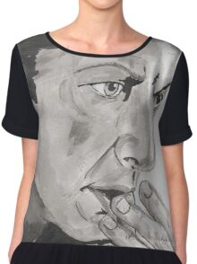 Portrait of Jeff Goldblum Chiffon Top