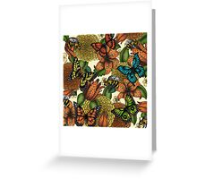 Flowers, Butterflies,  and Bumblebees  Greeting Card