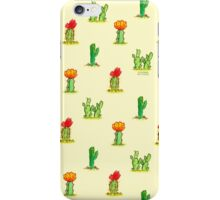 Watercolor Cacti on Yellow iPhone Case/Skin